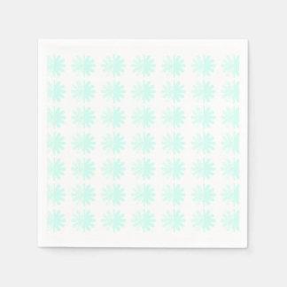 Distressed Petal Snowflake Pattern Napkin