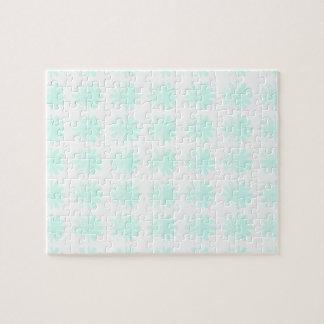 Distressed Petal Snowflake Pattern Jigsaw Puzzle