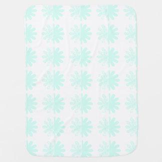 Distressed Petal Snowflake Pattern Receiving Blanket