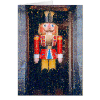 """""""DISTRESSED"""" PHOTO OF TRADITIONAL NUTCRACKER CARD"""