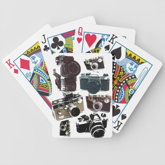 distressed photographer photography retro Camera Bicycle Playing Cards