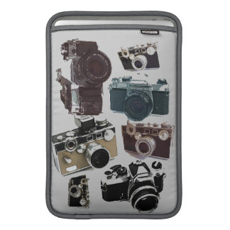 distressed photographer photography retro Camera MacBook Sleeve