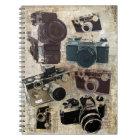 distressed photographer photography retro Camera Notebook