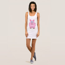 Distressed Piggy Sleeveless Dress