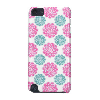 Distressed pink blue floral damask flowers pattern iPod touch 5G cases