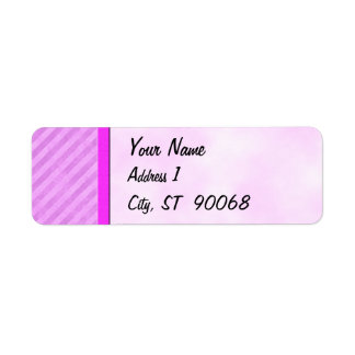Distressed Pink Stripes Customizable Labels