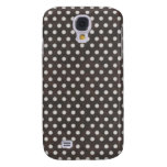 Distressed Polka Dot Pattern in Charcoal & White Galaxy S4 Cover