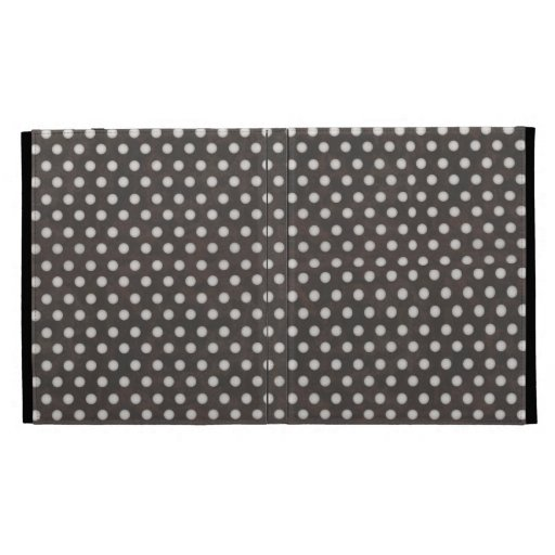 Distressed Polka Dot Pattern in Charcoal & White iPad Cases