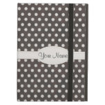 Distressed Polka Dot Pattern in Charcoal & White iPad Case