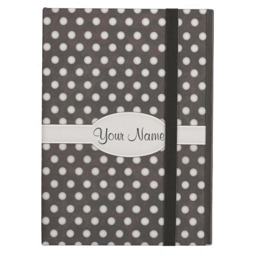 Distressed Polka Dot Pattern in Charcoal & White iPad Air Cover