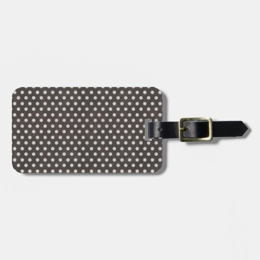 Distressed Polka Dot Pattern in Charcoal & White Tags For Luggage
