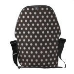 Distressed Polka Dot Pattern in Charcoal & White Courier Bags