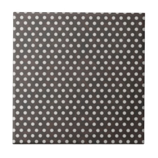 Distressed Polka Dot Pattern in Charcoal White Tiles