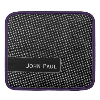 Distressed Polkadots Custom Name Sleeve For iPads