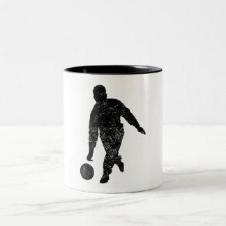 Distressed Pool Player Silhouette Coffee Mugs