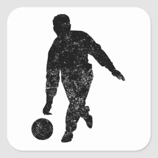 Distressed Pool Player Silhouette Sticker