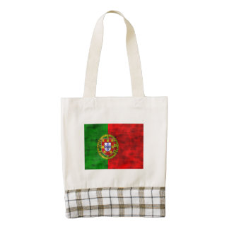 Distressed Portugal Flag Zazzle HEART Tote Bag