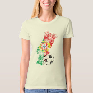 Distressed Portugal Soccer T Shirt