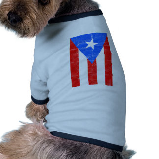 Distressed PR.png Pet T Shirt