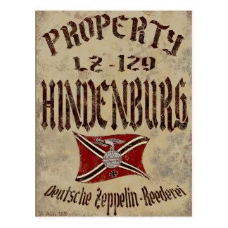 Distressed Property Of Hindenburg Poster Postcard