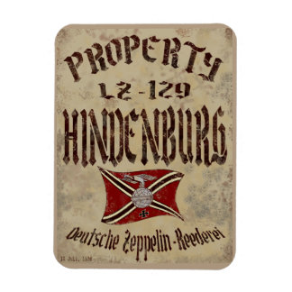 Distressed Property Of Hindenburg Poster Rectangular Photo Magnet