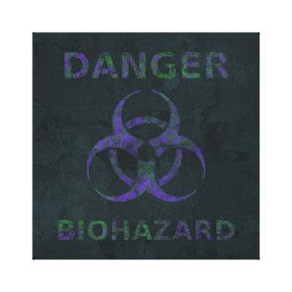 Distressed Purple Biohazard Canvas Print