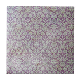 Distressed purple wallpaper pattern small square tile
