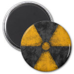 Distressed Radiation Symbol Magnet Fridge Magnet