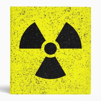 Distressed radioactive warning 3-Ring binder