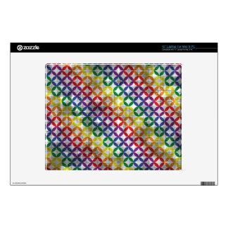"Distressed Rainbow Diamonds 12"" Laptop Skin"