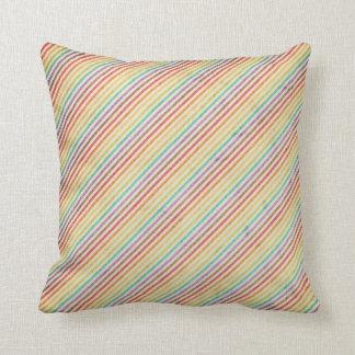 Distressed Rainbow Stripe Throw Pillows