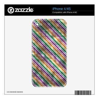Distressed Rainbow Stripes iPhone 4S Decal