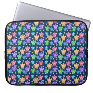 Distressed Rainbow Turtles Laptop Sleeve