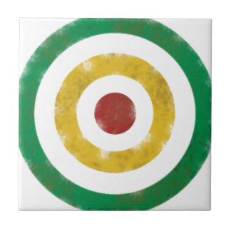 Distressed Rasta Rings Small Square Tile