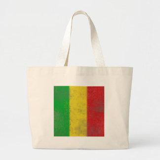 Distressed Rasta Stripes Tote Bag