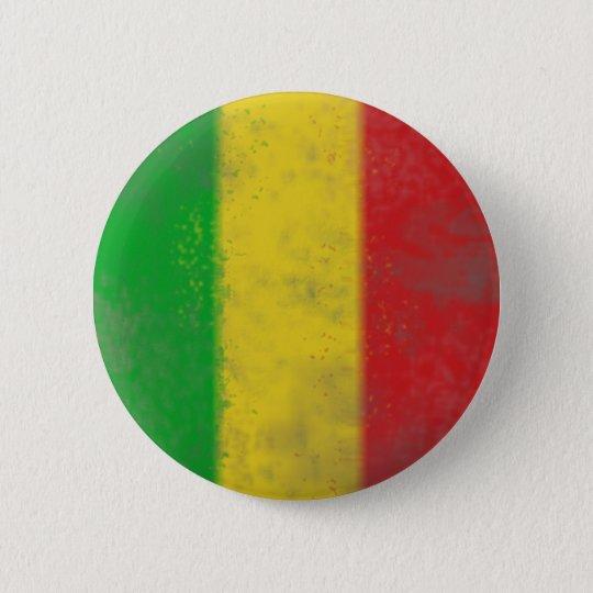 Distressed Rasta Stripes Button