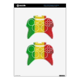 Distressed Rasta Stripes Xbox 360 Controller Decal