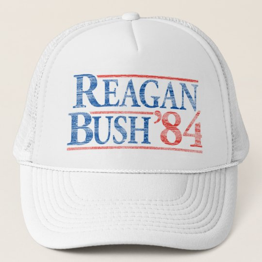 a18bfa9f77b54 Distressed Reagan Bush  84 Campaign Hat