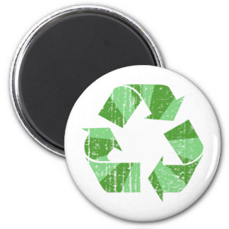 Distressed Recycle Symbol Magnet