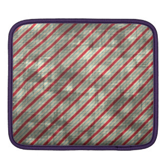 Distressed Red Diagonal Stripes Sleeves For iPads