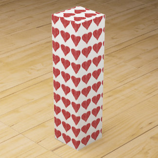 Distressed Red Heart Wine Boxes