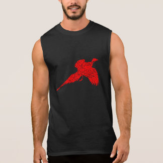 Distressed Red Pheasant Sleeveless Tee