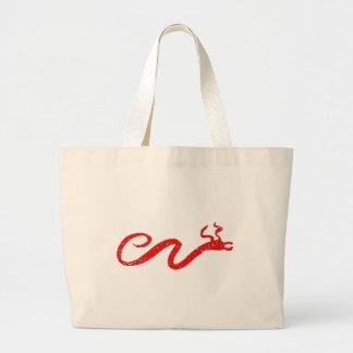 Distressed Red Serpent Jumbo Tote Bag