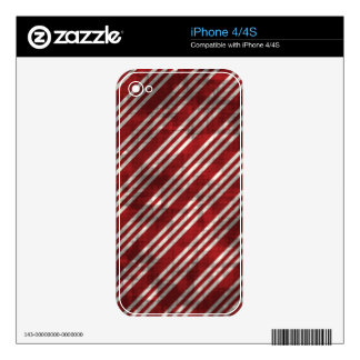 Distressed Red Stripes Decals For The iPhone 4