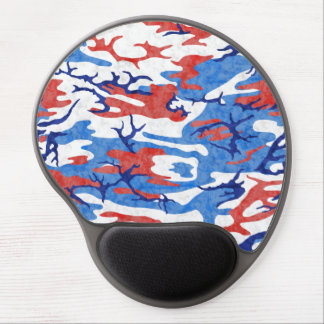 Distressed Red White and Blue Camo Mousepad Gel Mouse Pad