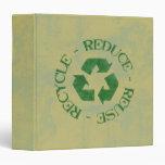 Distressed Reduce Reuse Recycle Binder