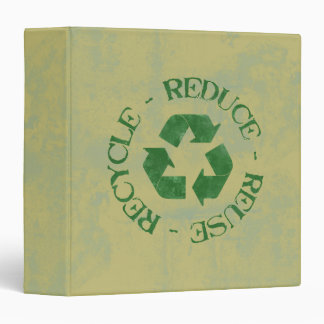 Distressed Reduce Reuse Recycle Binder