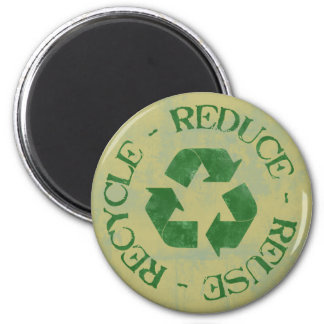 Distressed Reduce Reuse Recycle Magnet
