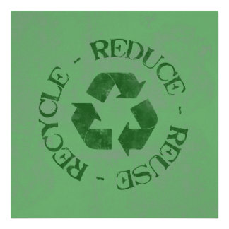 Distressed Reduce Reuse Recycle Poster