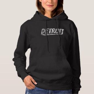 Distressed Retro Detroit Logo Hoodie